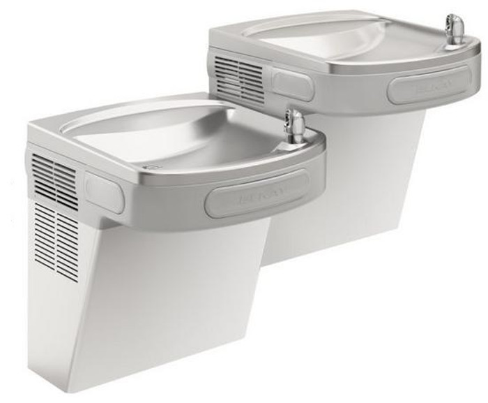 Elkay EZSTLVR8SC Refrigerated Drinking Fountain, Versatile Wall Mount Bi-Level, 8.0 GPH Water Cooler, Vandal-Resistant Bubbler, ADA, Stainless Steel