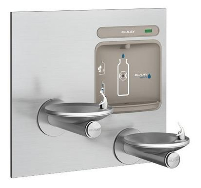 Elkay EZWS-EDFPBM117K EZH2O Bottle Filling Station with SwirlFlo Drinking Fountain, Bi-Level, ADA, GreenSpec Listed, (Non-Refrigerated)