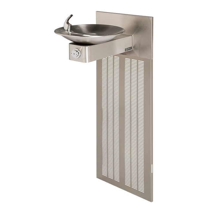 Haws H1001.8, Barrier-Free, Satin Finish, Stainless Steel, Electric Water Cooler, Drinking Fountain, 8 GPH