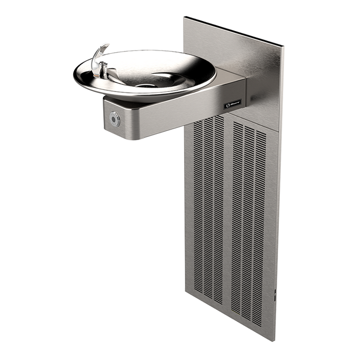 Haws H1001.8HO Touchless Electric Drinking Fountain, Wall Mounted, ADA Compliant, 8 GPH, Stainless Steel with Satin Finish