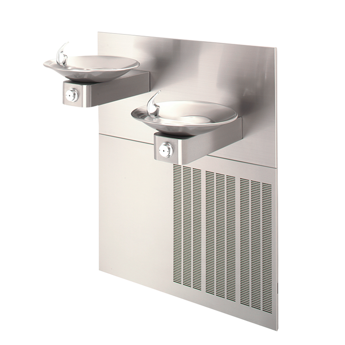 """Haws H1011.8, """"Hi-Lo"""" Barrier-Free, Dual, Satin Finish, Stainless Steel, Electric Water Coolers, Drinking Fountain, 8 GPH"""