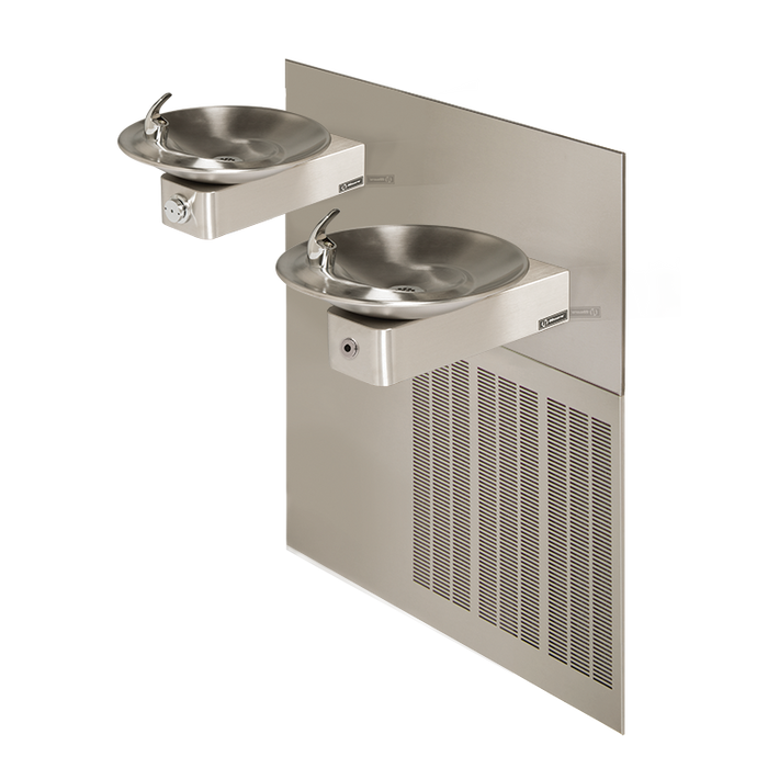 Haws H1011.8HO Touchless/Push Button Hi-Lo Electric Drinking Fountain, Wall Mounted, ADA Compliant, 8 GPH, Stainless Steel with Satin Finish
