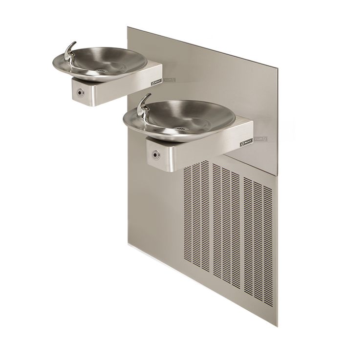 Haws H1011.8HO2 Touchless Hi-Lo Electric Drinking Fountain, Wall Mounted, ADA Compliant, 8 GPH, Stainless Steel with Satin Finish