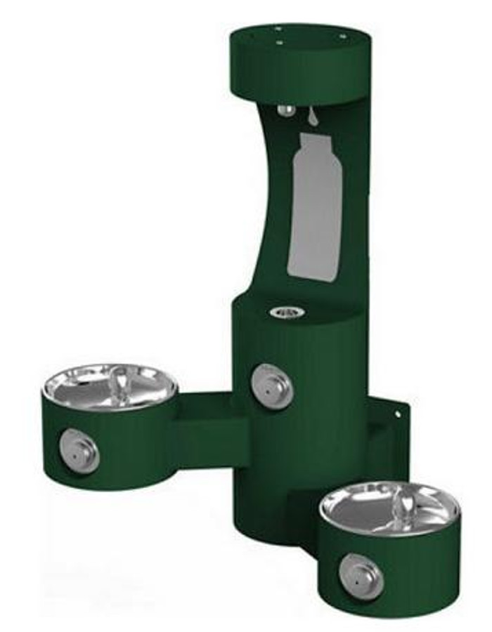 Elkay LK4409BF Outdoor EZH2O Bottle Filling Station, Wall Mounted, Bi-Level, Non-Filtered, Non-Refrigerated