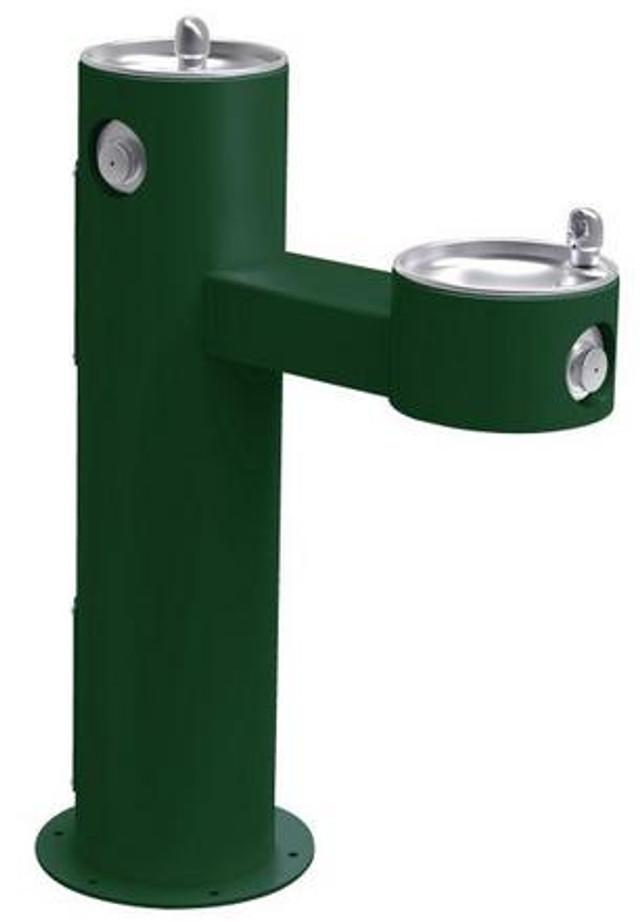 Elkay LK4420 Outdoor Drinking Fountain, Bi-Level, Pedestal, ADA, Non-Refrigerated