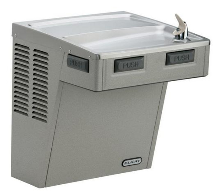 Elkay LMABF8S Refrigerated Drinking Fountain, Filtered, Mechanically-Activated, 8.0 GPH Water Cooler, ADA, Stainless Steel