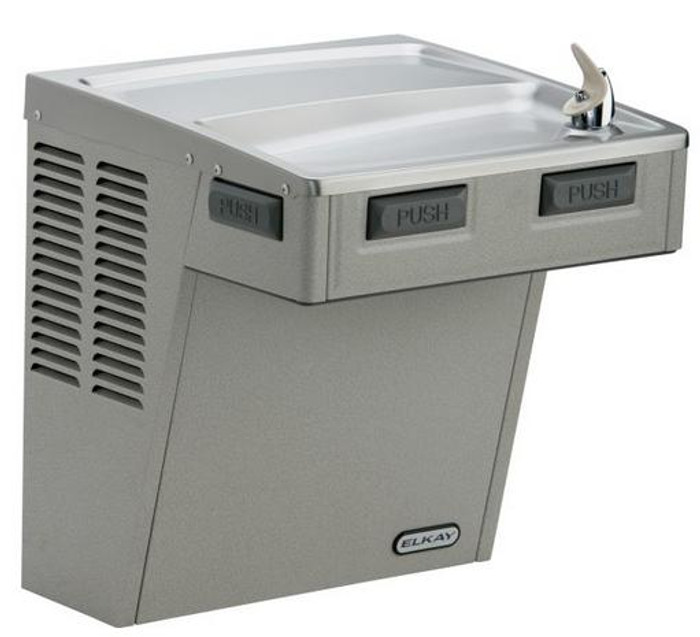 Elkay LMABFDL Drinking Fountain, Filtered, Mechanically-Activated, ADA, Light Gray Granite, (Non-Refrigerated)