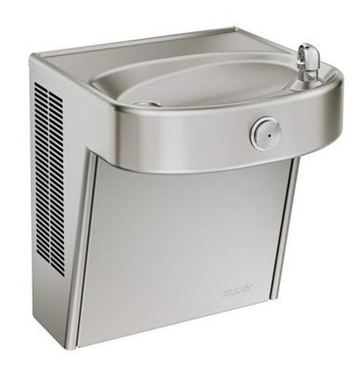 Elkay LVRCHD8S Refrigerated Drinking Fountain, Vandal-Resistant, Heavy Duty, Filtered, ADA, 8.0 GPH Water Cooler, Stainless Steel