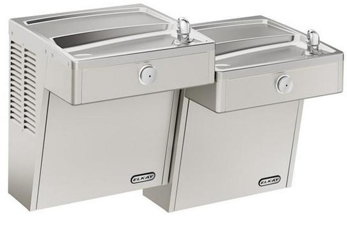 Elkay LVRCTL8SC Refrigerated Drinking Fountain, Vandal-Resistant, Filtered, Bi-Level, ADA, 8.0 GPH Water Cooler