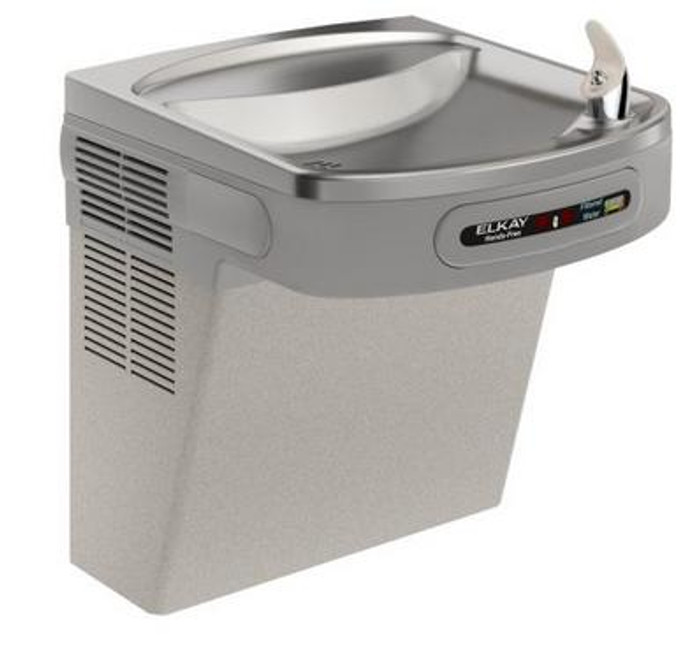 Elkay LZO8L Refrigerated Drinking Fountain, Sensor-Operated, Filtered, Visual Filter Monitor, 8.0 GPH, ADA, Light Gray Granite
