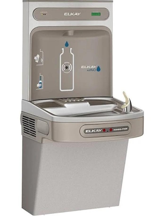 Elkay LZO8WSLK EZH2O Bottle Filling Station with Single ADA Cooler, Hands Free Activation, Filtered, Refrigerated, Light Gray