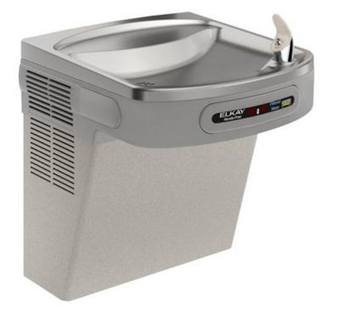 Elkay LZODL Drinking Fountain, Sensor-Operated, Filtered, Visual Filter Monitor, ADA, Light Gray Granite, (Non-Refrigerated)