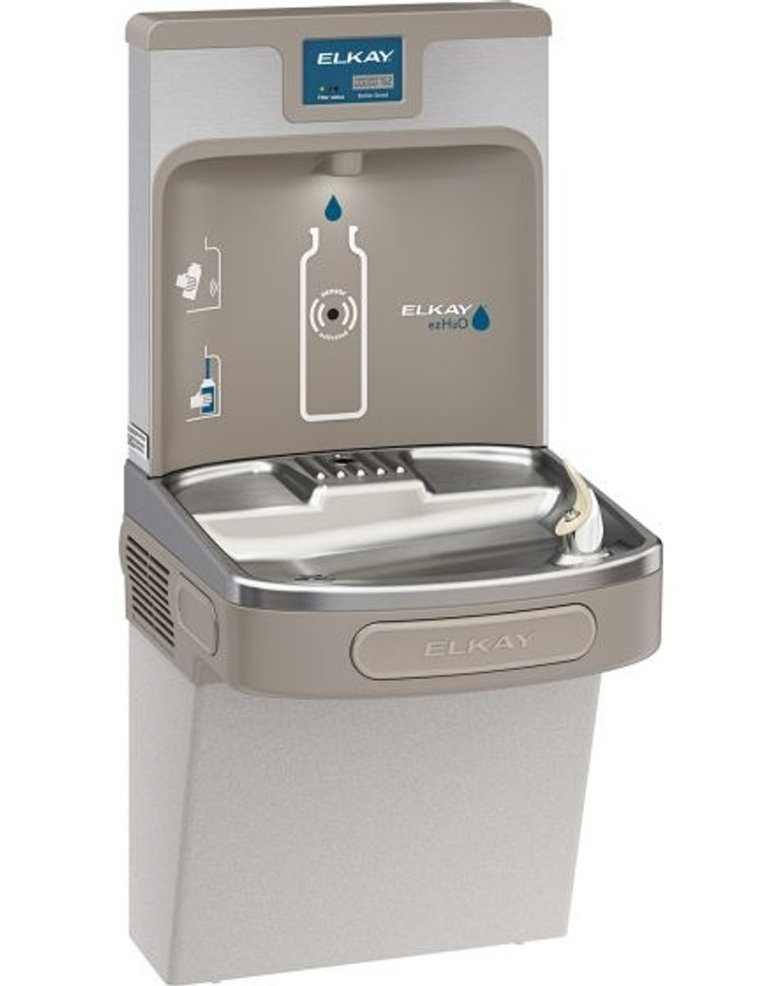 Elkay LZS8WSLP Enhanced EZH2O Bottle Filling Station and Single ADA Cooler, Filtered, 8 GPH, Light Gray
