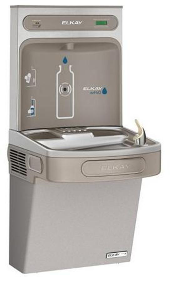 Elkay LZSG8WSLK EZH2O Bottle Filling Station and Single ADA Cooler, High Efficiency, Filtered, 8 GPH, Light Gray
