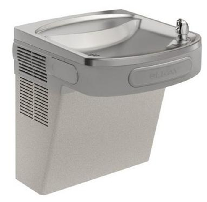 Elkay LZSVR8L Refrigerated Drinking Fountain, Filtered, Vandal-Resistant Bubbler, 8.0 GPH Water Cooler, ADA, Light Gray Granite