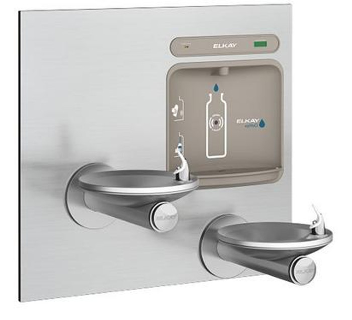 Elkay LZWS-EDFPBM117K EZH2O Bottle Filling Station with SwirlFlo Drinking Fountain, Filtered, Bi-Level, ADA, GreenSpec Listed, (Non-Refrigerated)