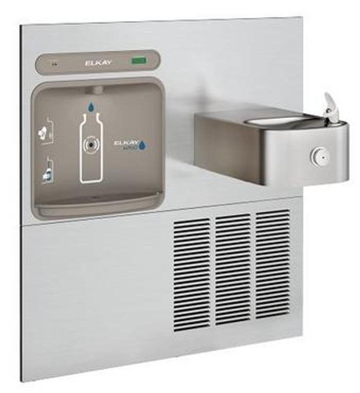 Elkay LZWS-ERFP8-RF EZH2O Retrofit Bottle Filling Station with Soft Sides Fountain, Filtered, 8 GPH, Stainless Steel