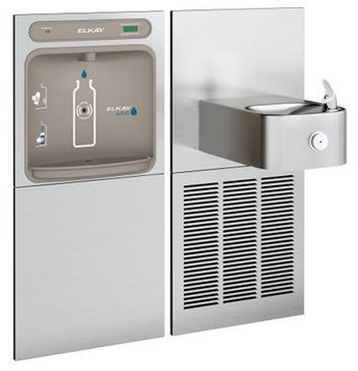 Elkay LZWS-SS8K EZH2O Bottle Filling Station with Soft Sides Drinking Fountain, Filtered, GreenSpec Listed, 8.0 GPH, ADA, Refrigerated