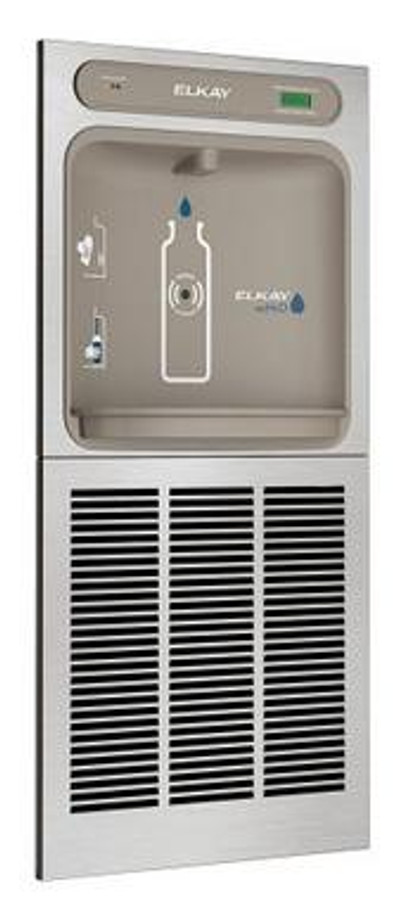 Elkay LZWS8PK EZH2O Bottle Filling Station for use with SwirlFlo EDFPBM, Filtered, 8.0 GPH, ADA, GreenSpec Listed, Refrigerated