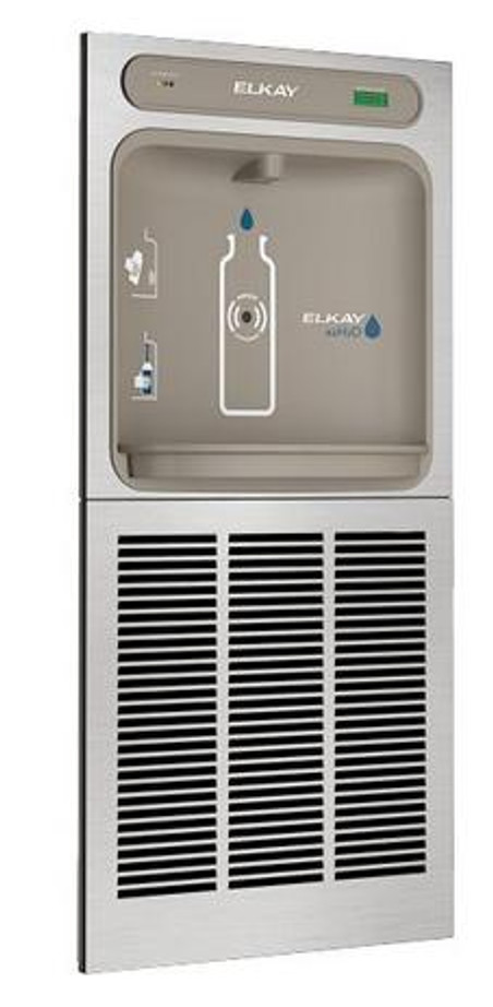 Elkay LZWSGRN8K EZH2O Bottle Filling Station with High-Efficiency ECH8GRN Chiller, Flitered, 8.0 GPH, ADA, GreenSpec Listed, Refrigerated