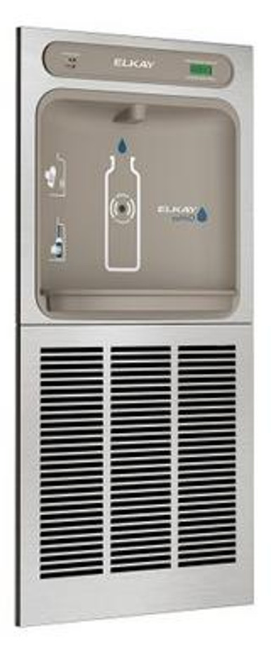 Elkay LZWSGRN8PK EZH2O Bottle Filling Station for use with SwirlFlo EDFPBM with High-Efficiency ECH8GRN Chiller, Flitered, 8.0 GPH, ADA, GreenSpec Listed, Refrigerated