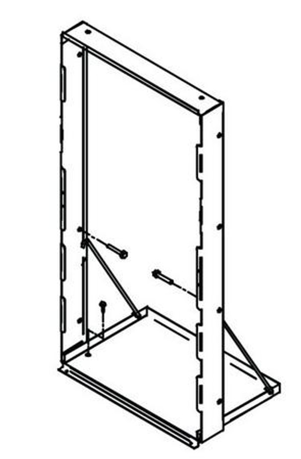 Elkay / Halsey Taylor MFWS100 Mounting Frame, Single Station for EZH2O In-Wall EZWS, LZWS and HydroBoost In-Wall Models Drinking Fountains