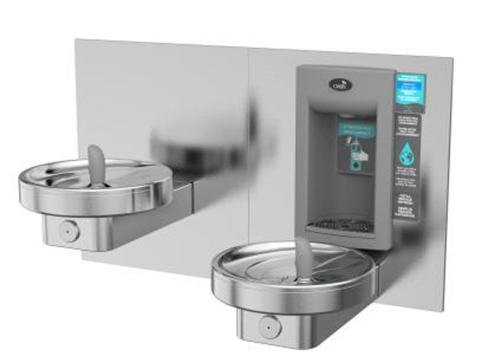 Oasis MMRSLEBF RADII Universal Bi-Level Modular Drinking Fountain with Sports Bottle Filler, VersaFiller with Hands Free Activation, ADA Compliant, Green Filtration, (Non-Refrigerated)