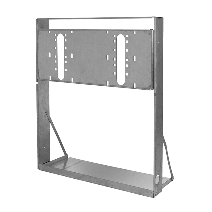 """Haws MTGFR.LG, """"Hi-Lo"""" Mounting Frame, Heavy Gauge Galvanized Steel for use with Dual Bubbler Electric Drinking Fountains"""