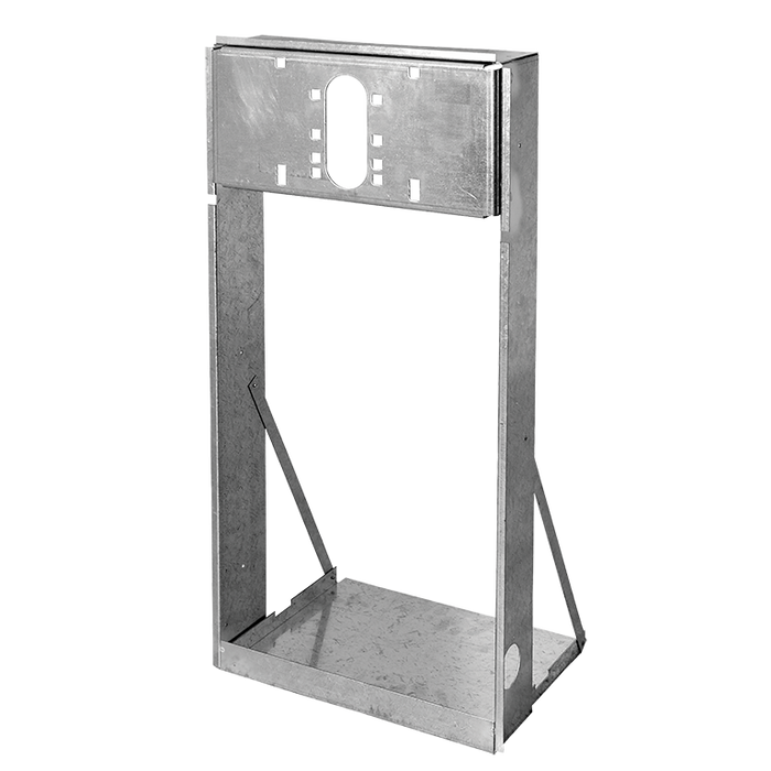 Haws MTGFR.SM, In-Wall Mounting Frame, Heavy Gauge Galvanized Steel for use with Single Bubbler Electric Drinking Fountains