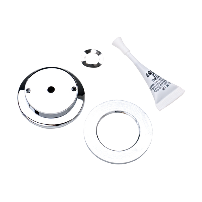 Haws PBA6, Polished Chrome-Plated Brass, Flanged Push Button Assembly used with Push Button Valve 5874 for Drinking Fountains