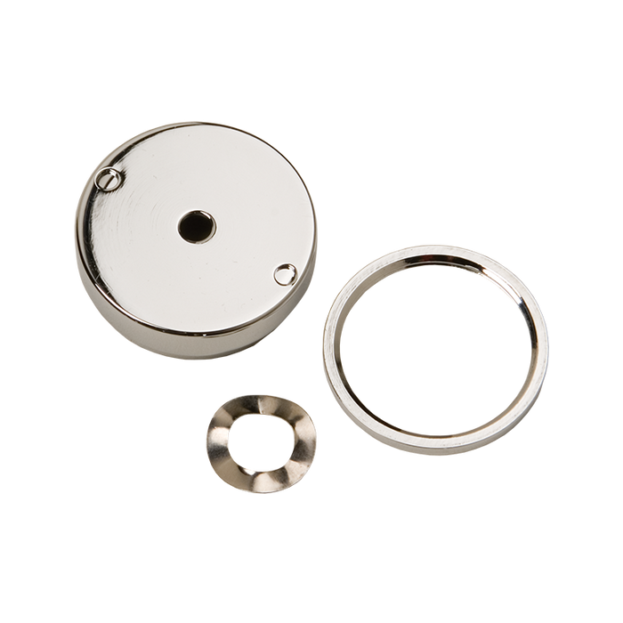 Haws PBA7, Polished Chrome-Plated Brass, Recessed, Push Button Assembly used with Push Button Valve 5874 for Drinking Fountains