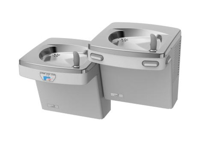 Oasis PF8ACSLEE Refrigerated Drinking Fountain, Bi-Level, Barrier Free, 8 GPH, Water Cooler, Filtered, Electronic Eyes (Low Unit Only) (NEW ENERGY EFFICIENT PGF8ACSLTM WILL BE SHIPPED)