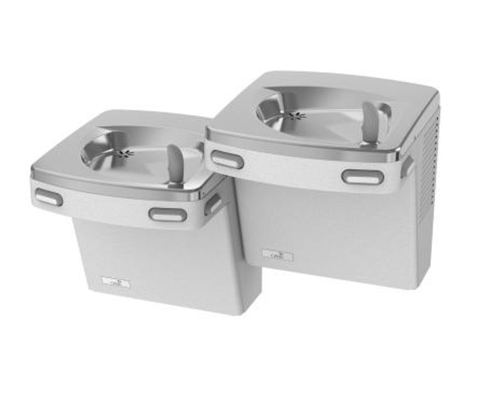 Oasis PG8ACSL Refrigerated Drinking Fountain, Universal Split-Level, Energy/Water Efficient, Water Saver/Flex Guard Bubbler, Mech Side & Front Push Pads, ADA, 8 GPH, Non-Filtered