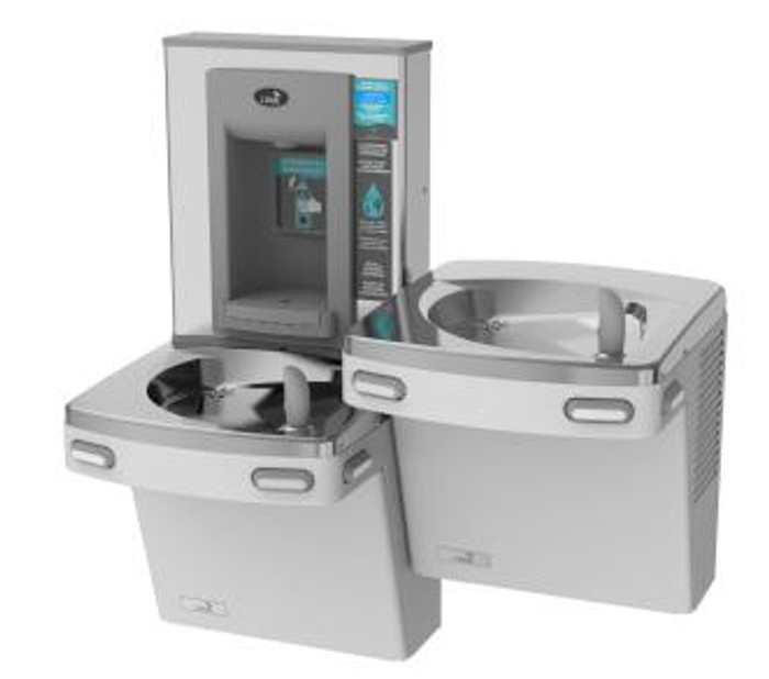 Oasis PG8EBFSL Versacooler II Energy Efficient Universal Refrigerated Drinking Fountain and Electronic Bottle Filler, VersaFiller with Hands Free Activation, Bi-Level, Non-Filtered