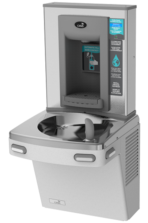 Oasis PGEBF Versacooler II Energy Efficient Drinking Fountain and Electronic Bottle Filler, VersaFiller with Hands Free Activation, Barrier Free ADA, Non-Filtered, Non-Refrigerated