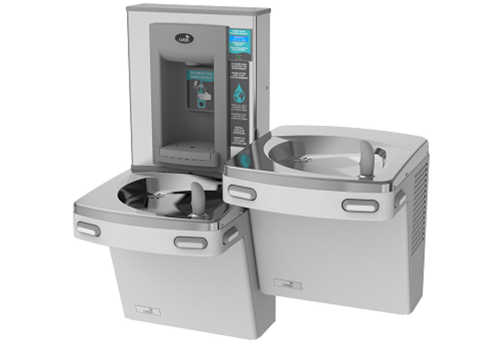 Oasis PGF8EBFSL Versacooler II Energy Efficient Refrigerated Drinking Fountain and Electronic Bottle Filler, VersaFiller with Hands Free Activation, Bi-Level, Filtered