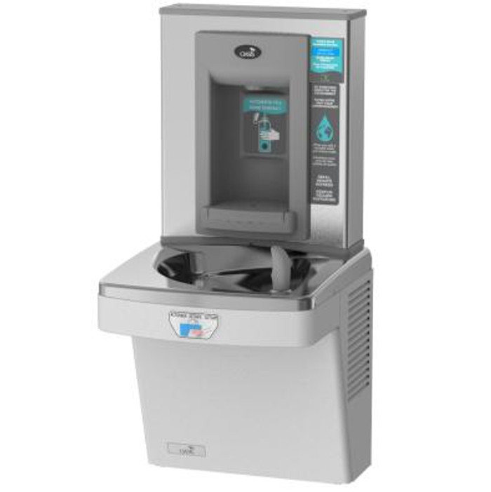Oasis PGF8EBFT Contactless Refrigerated Drinking Fountain with Electronic Sports Bottle Filler, Sensor Activated, Touch Free, 8 GPH, Filtered