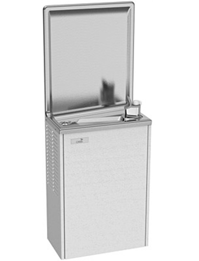 Oasis PLF8SM Simulated Semi-Recessed Water Cooler, Refrigerated Drinking Fountain, 8 GPH