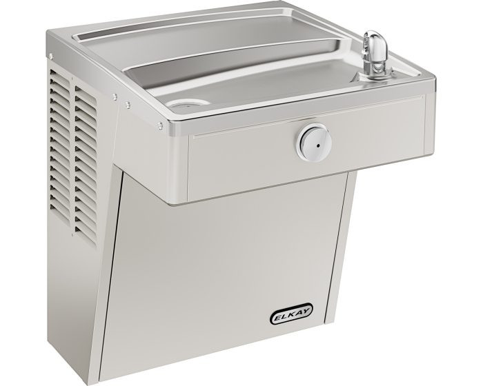 Elkay VRC8S Refrigerated Drinking Fountain, Vandal-Resistant, ADA, 8.0 GPH Water Cooler, Non-Filtered, Stainless Steel
