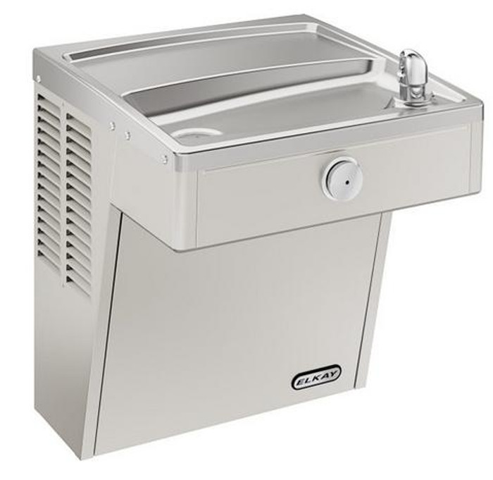 Elkay VRCSC8S Refrigerated Drinking Fountain, Vandal-Resistant, 8.0 GPH Water Cooler, ADA, Includes Louver Screens