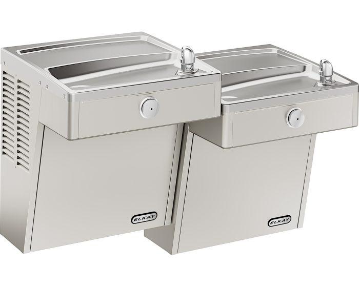 Elkay VRCTLSCDDSC Drinking Fountain, Vandal-Resistant, Bi-Level, ADA, Includes Louver Screens, (Non-Refrigerated)