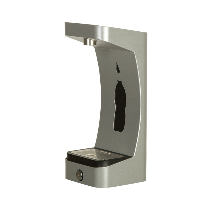 Haws 3690 stainless steel matte-silver powder-coated bottle filler attachment for the 3600 series outdoor fountains