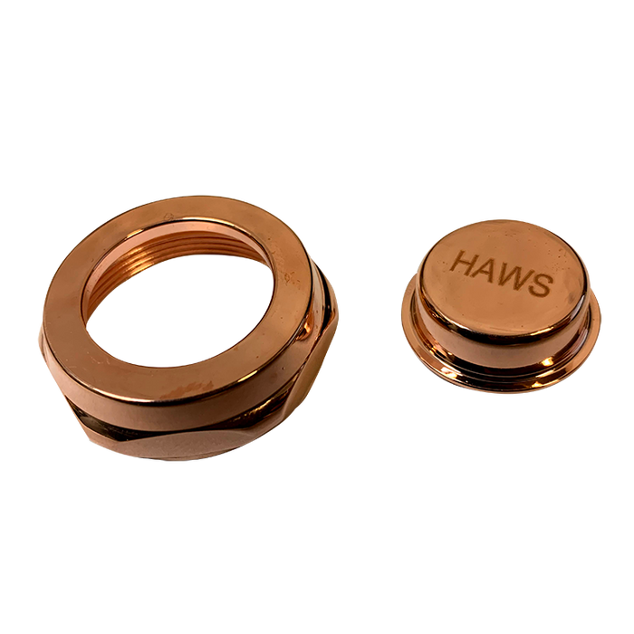 Haws PBA8C Copper Push Button and Retaining Nut for 5010SS Valve