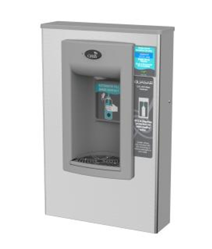 Oasis PWSMEBQ Hands Free QUASAR UVC-LED VersaFiller Electronic Water Bottle Filler, Non-Filtered, Non-Referigerated