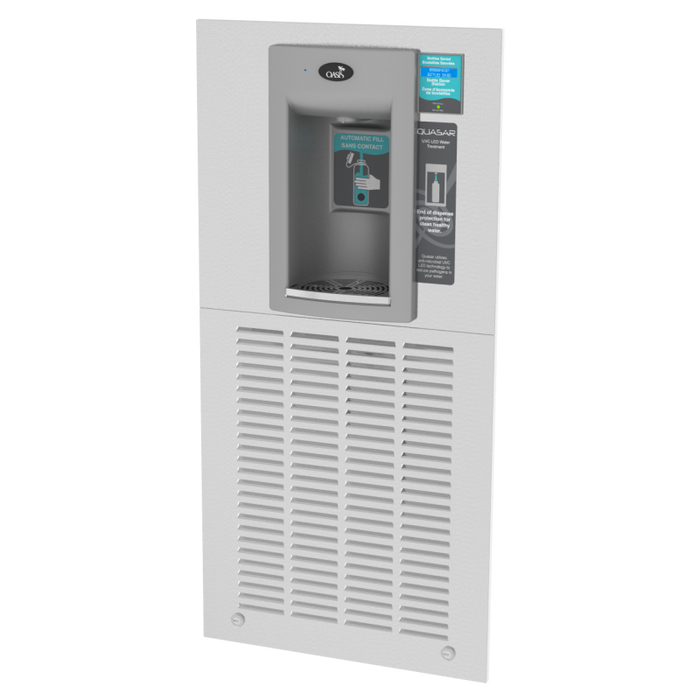 Oasis MWF2EBQ Hands Free QUASAR UVC-LED Versafiller Electronic Sports Bottle Filler, Modular, Filtered, Non-Refrigerated, Recessed