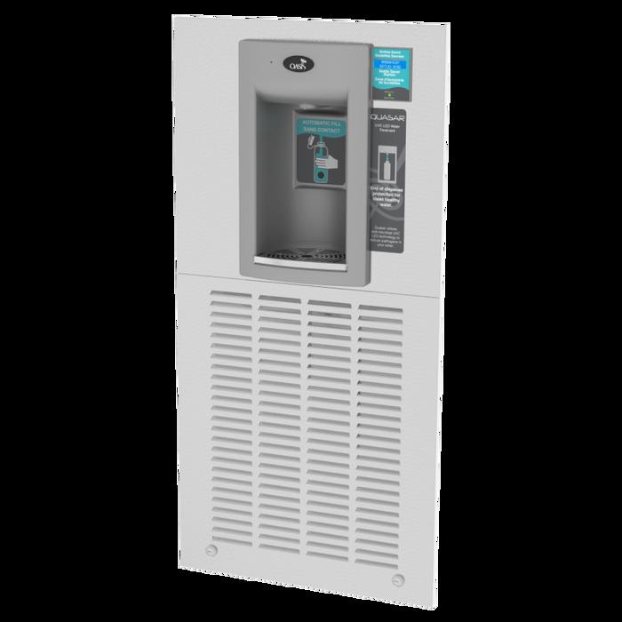 Oasis MW12F2EBQ Hands Free QUASAR UVC-LED Versafiller Electronic Sports Bottle Filler, 12.0 gph, Modular, Filtered, Recessed, Refrigerated