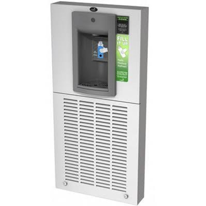 Oasis MWSM8EBQ Refrigerated Touch Free QUASAR UVC-LED Electronic Sports Bottle Filler, VersaFiller, Contactless, Surface Mounted, 8 GPH