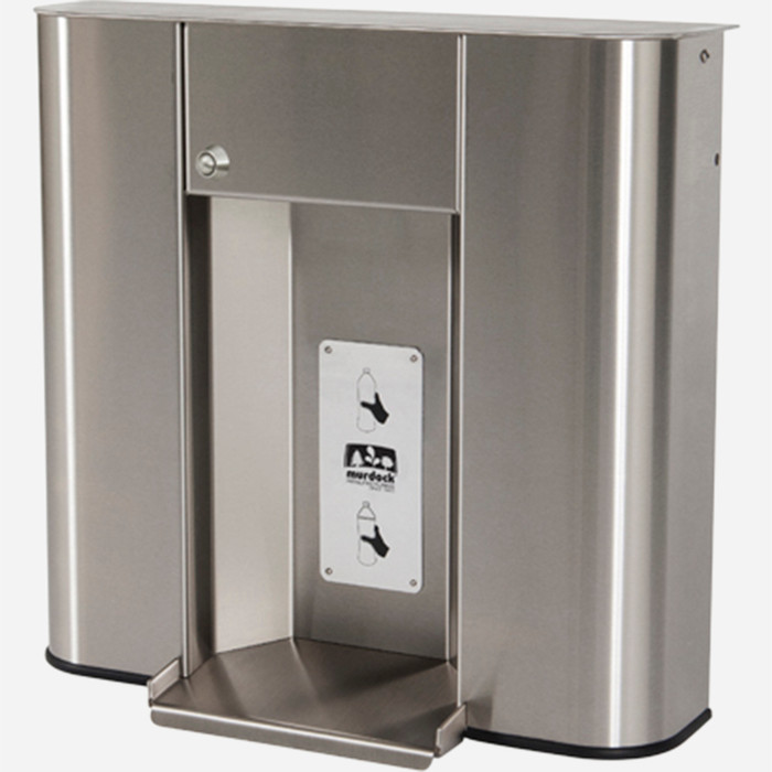 Murdock BF1S Bottle Filler, Deck Mounted, Push Button Operated, Stainless Steel, for A171 or A111 Series