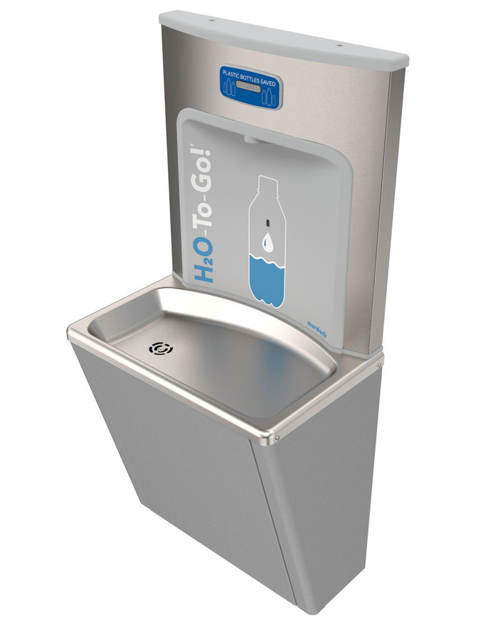 Murdock BFEZG16-BCD EZReach Compact, Sensor Operated Water Refill Station, Gray Finish, Bottle Counter Display