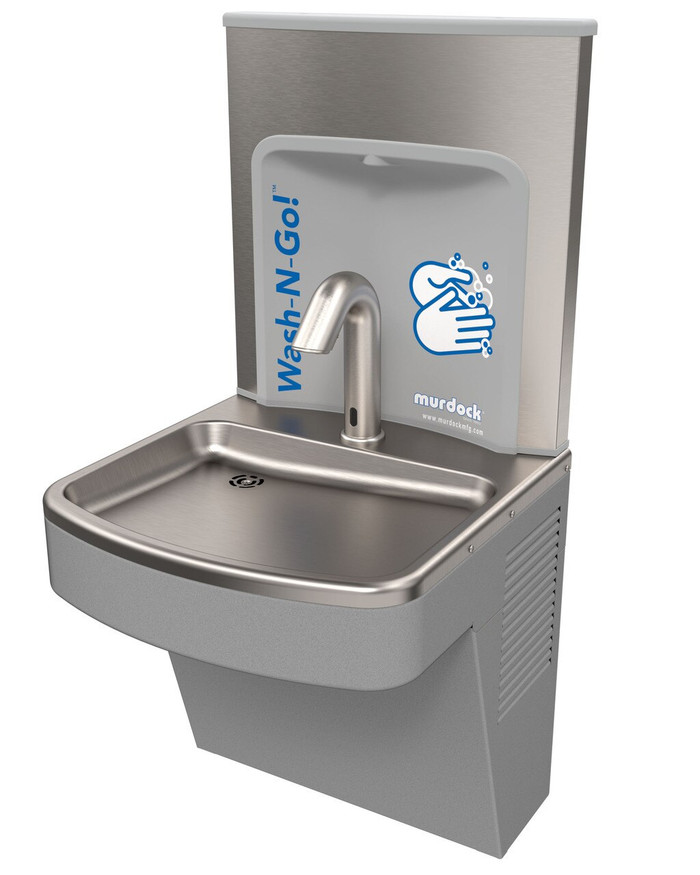 Murdock A171400W Wash-N-Go ADA Hand Wash Station, Wall Mounted, Stainless Steel, Sensor Operated